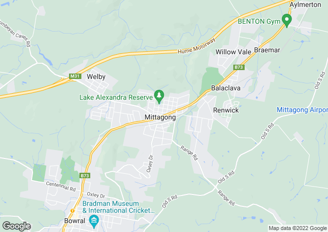 Map for Southwood Old South Road, MITTAGONG 2575