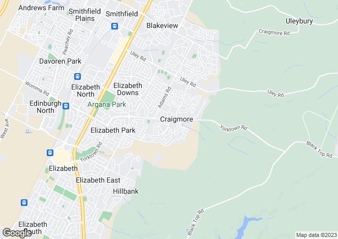Map for 19 Kanimbla Crescent, CRAIGMORE 5114