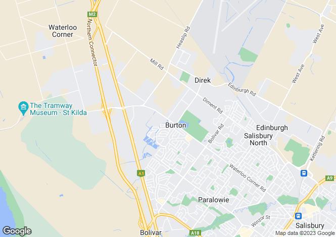 Map for 12 Barton Crescent, BURTON 5110