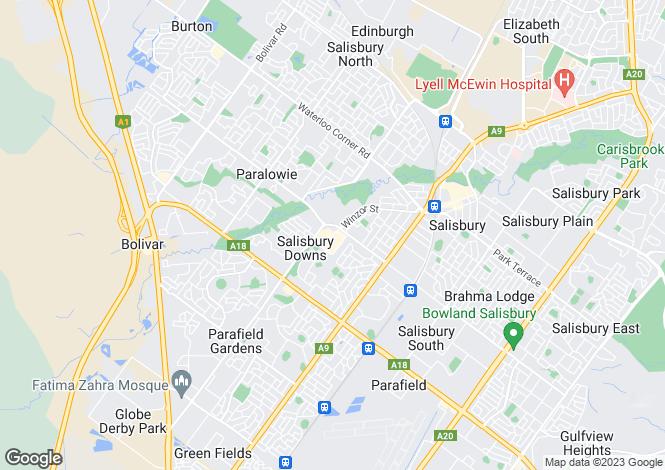 Map for 39 Meath Avenue, SALISBURY DOWNS 5108