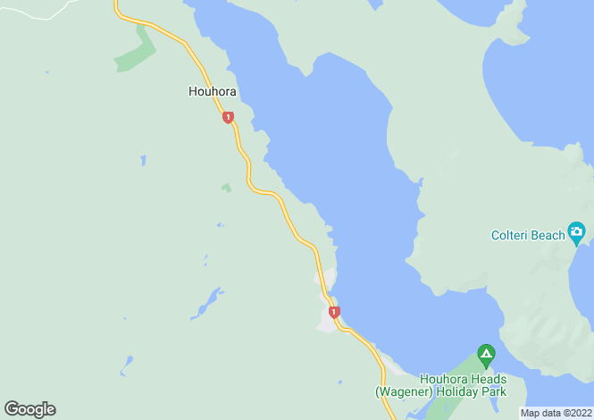 Map for 90 Trig Road, Houhora 0484