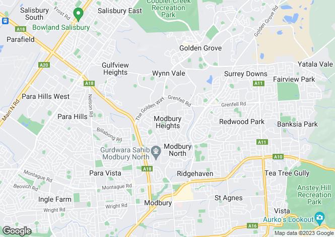 Map for Lot 800/8 Duke Avenue, Modbury Heights 5092