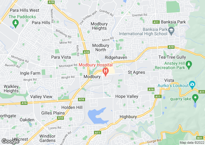 Map for Wendys - Tea Tree Plaza 2 , MODBURY 5092