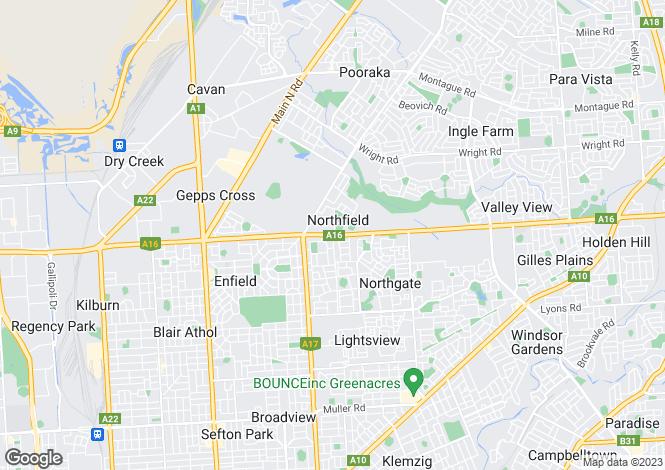 Map for Cox Street , NORTHFIELD 5085