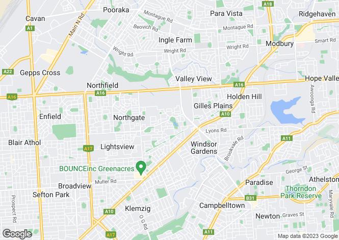 Map for 28 Greys Court, Oakden 5086