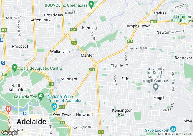 Map for 7/58 Portrush Road, Payneham 5070