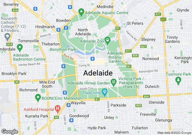 Map for 18-20 Surflen Street, Adelaide 5000