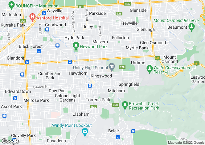 Map for Unit 1/11-13 East Parade, KINGSWOOD 5062