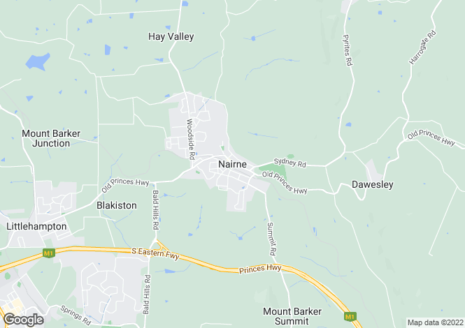 Map for 20 North Railway Terrace, NAIRNE 5252