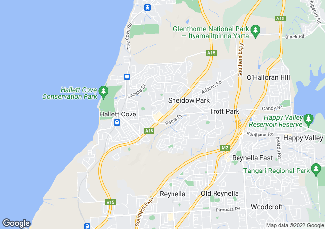 Map for 20 Crusade Court, HALLETT COVE 5158