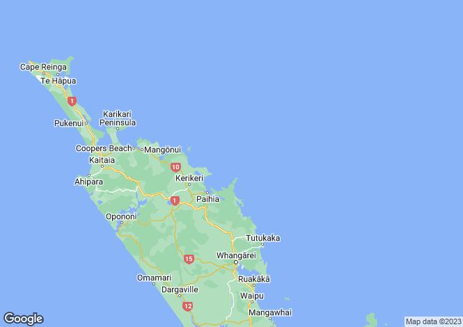 Map for Waipu Cove, Waipu Cove, Northland, New Zealand