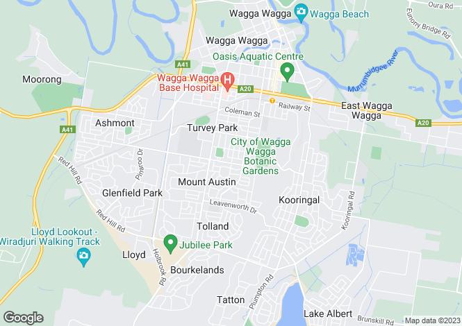 Map for 17 Warren Place, MOUNT AUSTIN 2650