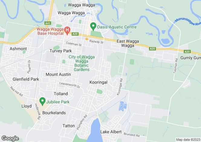 Map for 28 Patamba Street, KOORINGAL 2650