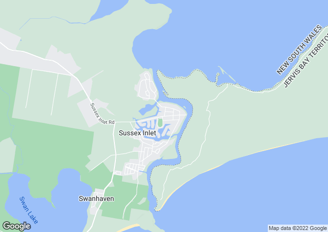 Map for 142 Jacobs Drive, Sussex Inlet 2540