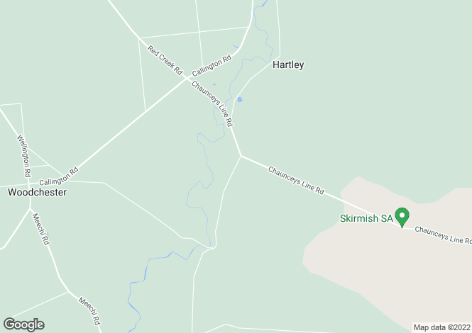 Map for 62 Chaunceys Line Road, HARTLEY 5255