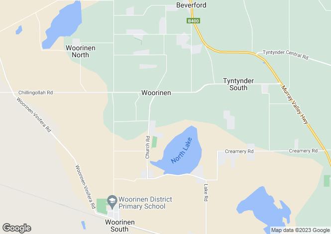 Map for 42 Lake Road, WOORINEN 3589