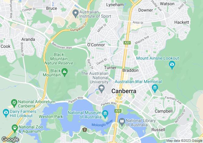Map for 64/77 Northbourne Avenue, TURNER 2612