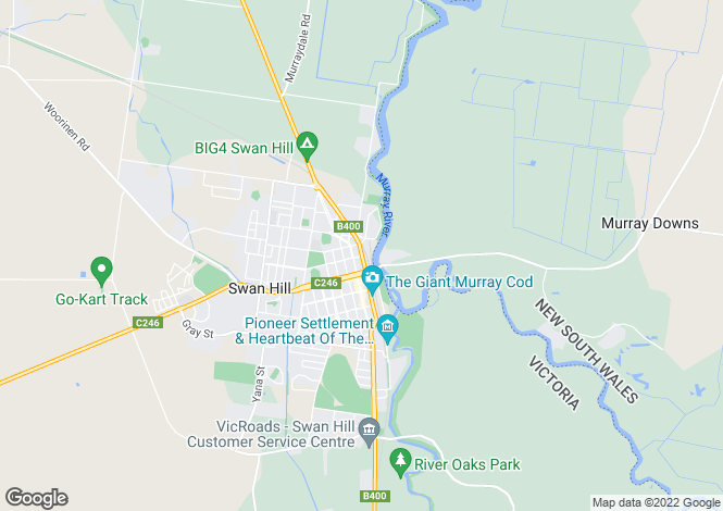 Map for Unit 6/21 Splatt Street, SWAN HILL 3585