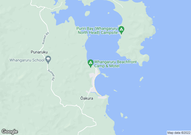 Map for Northland, Whangarei