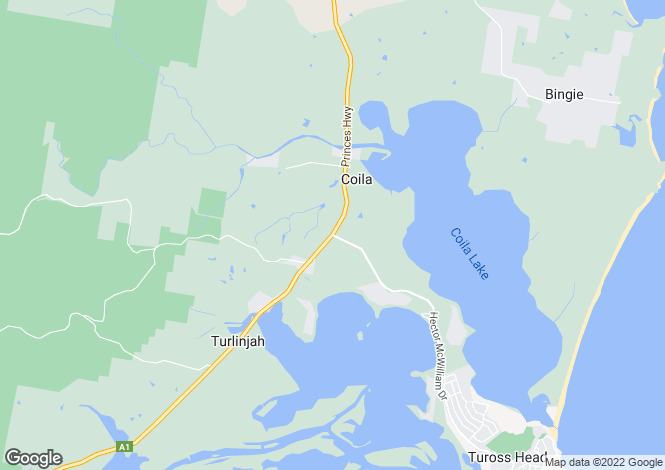 Map for 3828 Princes Highway, COILA 2537