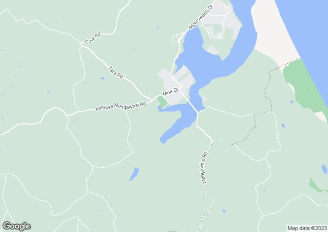 Map for Northland, Mangawhai