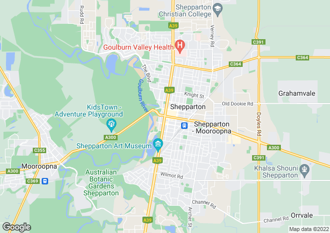 Map for SHEPPARTON 3630