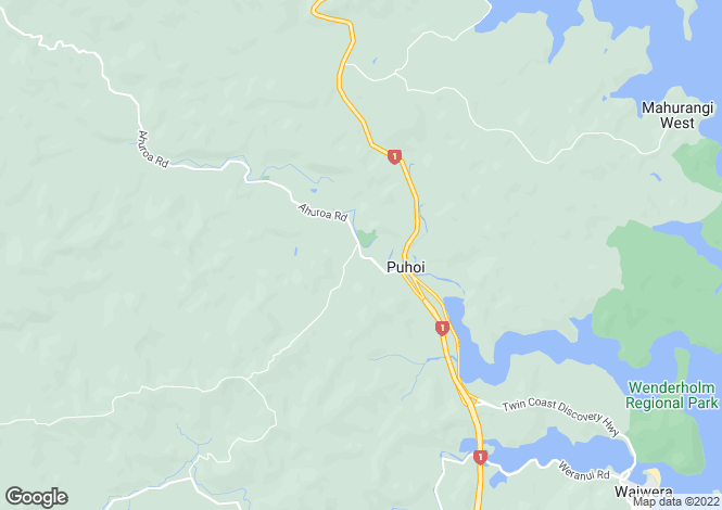 Map for Ahuroa Road , Puhoi 0873