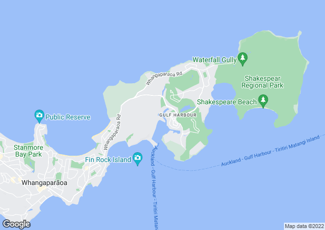Map for Auckland