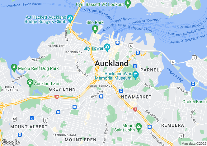 Map for Auckland, Auckland