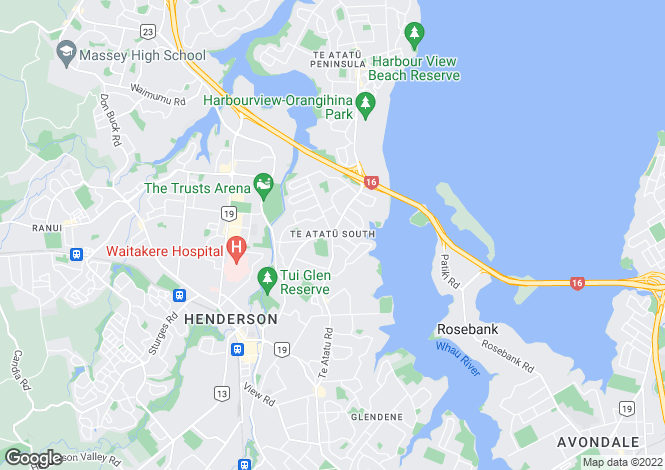 Map for Te Atatu South, Auckland, New Zealand