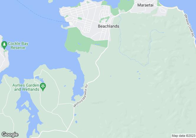 Map for Auckland, Manukau