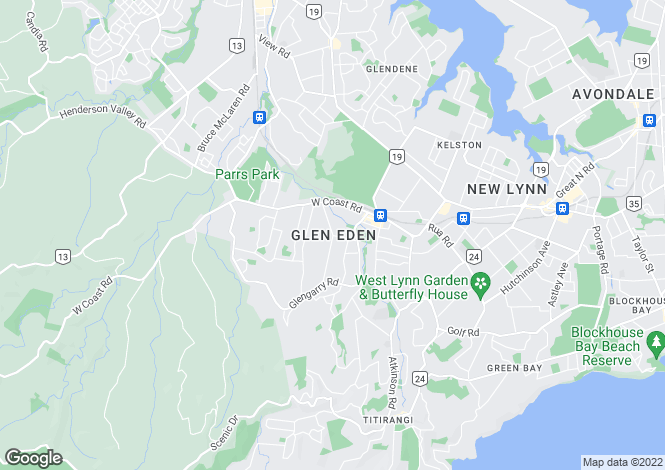 Map for Glen Eden, Auckland, New Zealand