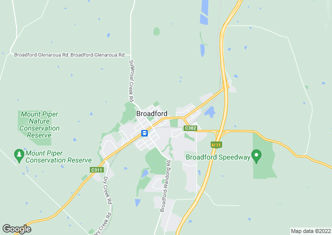 Map for 55 Reservoir Rd, BROADFORD 3658