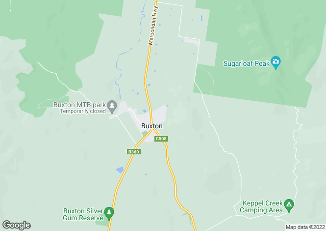 Map for 171 Buxton-Marysville Road, BUXTON 3711