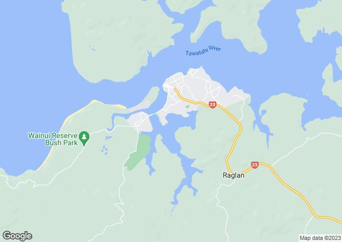 Map for 238 Waimaori Road Te Mata, Raglan 3225