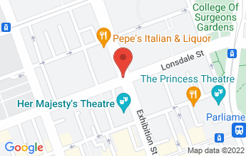 Map of Corner Exhibition & Lonsdale Streets  Melbourne  Victoria  3000