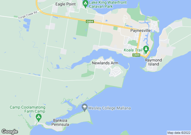 Map for Lot 10 Ocean Grange, BOOLE POOLE 3880