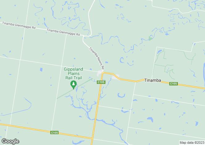 Map for 159 Heyfield - Upper Maffra Road, TINAMBA 3859
