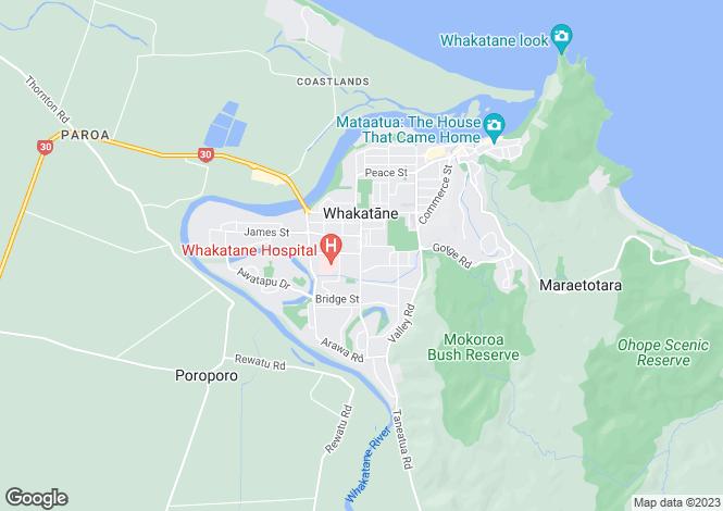 Map for 830 Manawahe Road, Whakatane 3120