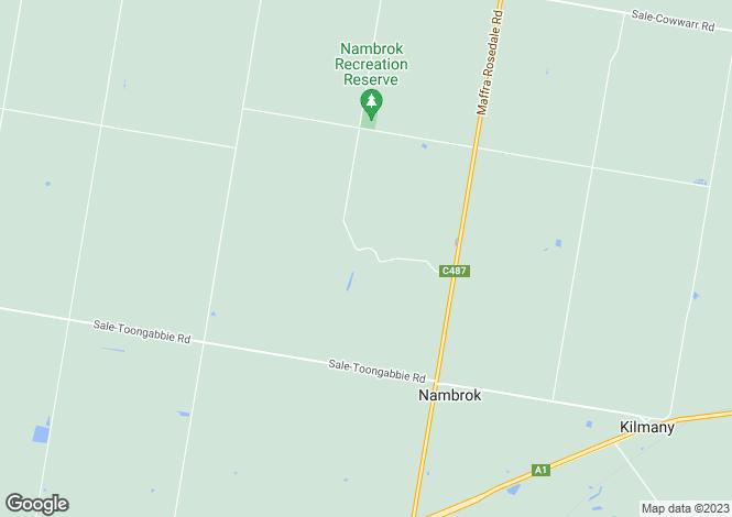 Map for 243 Nambrok Hall Road, NAMBROK 3847