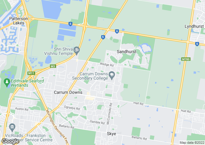 Map for CARRUM DOWNS 3201