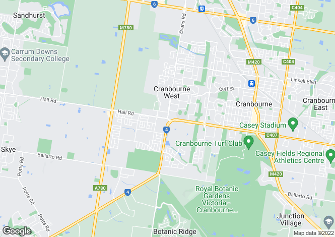 Map for 7 Red Maple Drive, CRANBOURNE WEST 3977