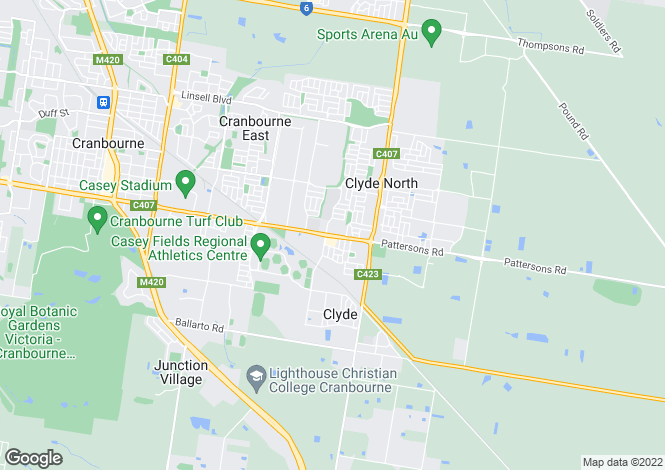 Map for 18 Ardent Crescent, CRANBOURNE EAST 3977