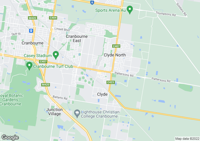 Map for Lot 176 Buick Court, CRANBOURNE EAST 3977