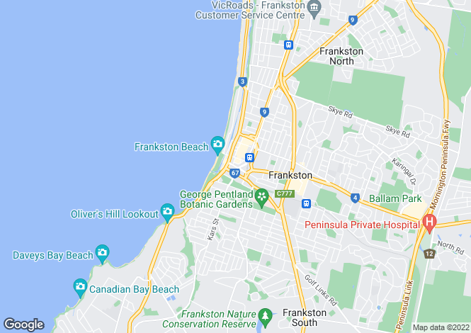 Map for 31/325 Nepean Highway, FRANKSTON 3199
