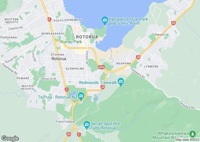 Map for Bay of Plenty, Rotorua