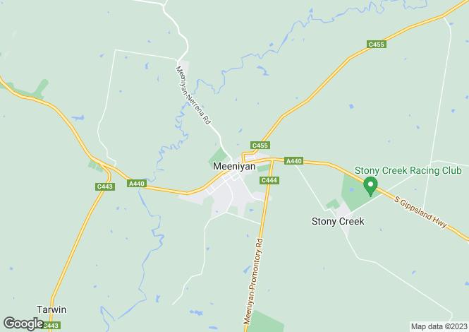 Map for 320 Meeniyan Promontory Road, MEENIYAN 3956