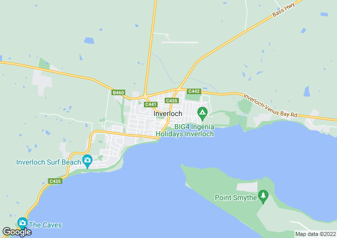 Map for 7 Tea Tree Court, INVERLOCH 3996