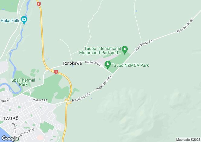 Map for Waikato, Taupo