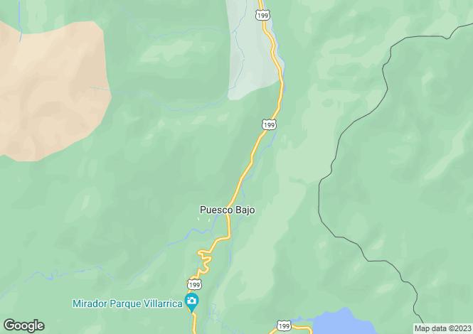 Map for Araucanía, Puesco